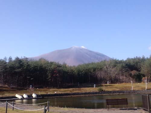 H25浅間山初冠雪