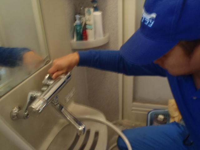 シャワー水栓の取替え 神戸市長田区