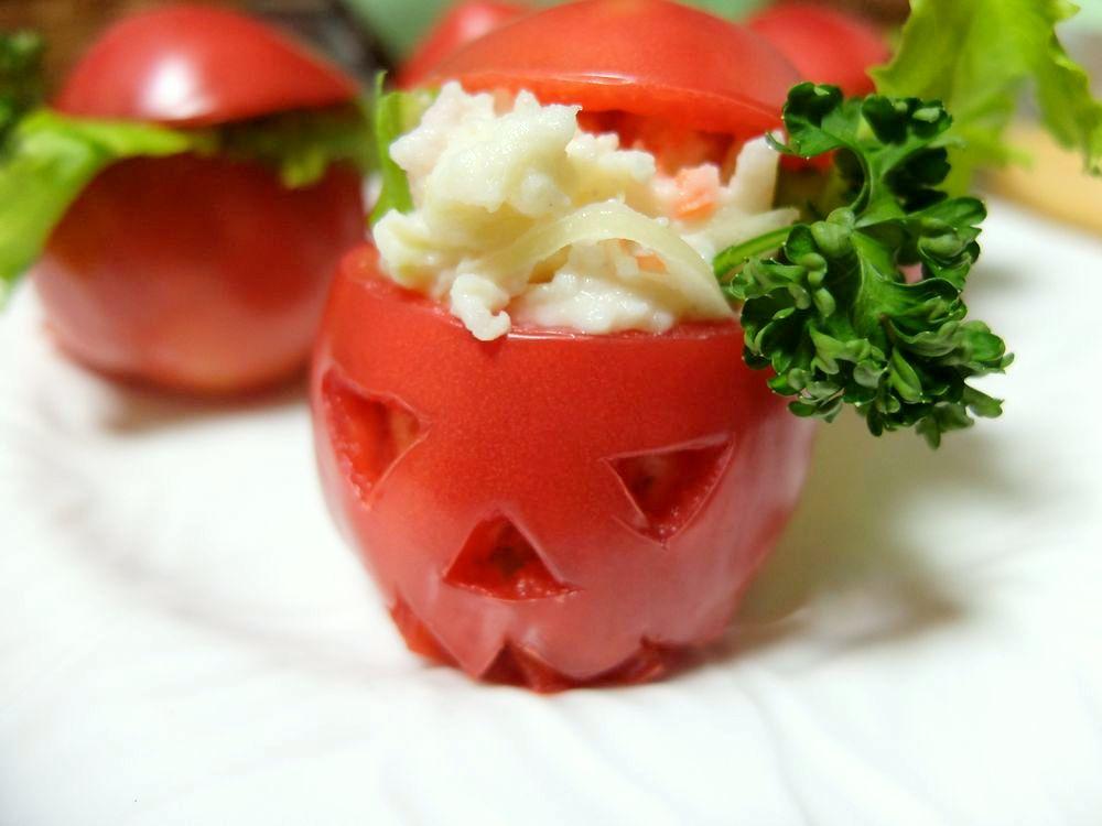 トマトカップサラダ ハロウィン