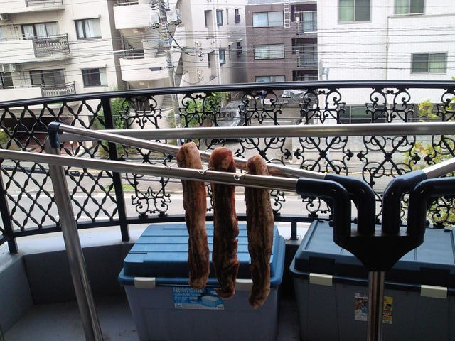 金串&物干しでお肉を風乾
