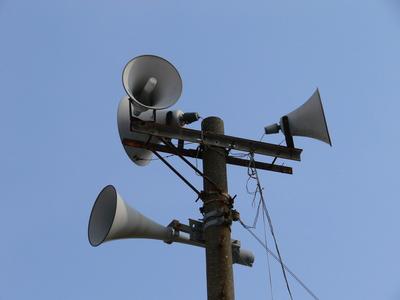 町内放送用スピーカー