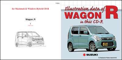 ワゴンRのイラストデータ用CD-Rレーベルデザイン