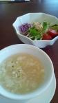 2013-10-31_スープとサラダ