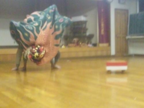 子雀獅子稽古2013.4.25 (4)