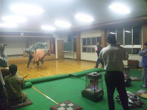 子雀獅子稽古2013.4.25 (1)