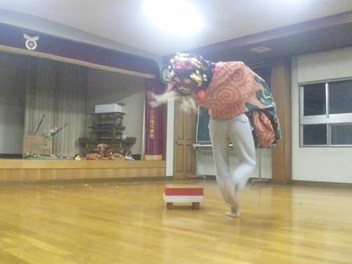 子雀獅子稽古2013.4.25 (7)