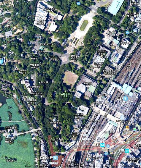 東京都上野 公園 -2- Google マップ0001