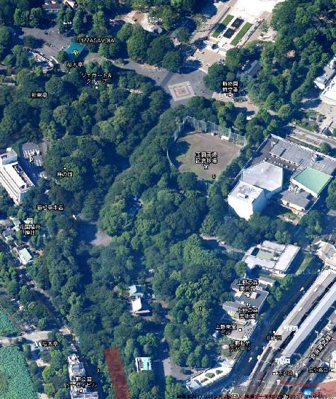 東京都上野 公園 -3- Google マップ0001