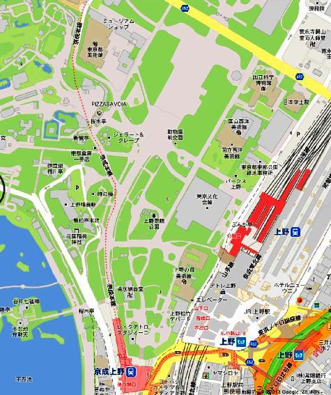 東京都上野 公園 - Google マップ0001