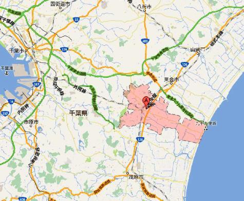 千葉県大網白里市 - Google マップ0001-3