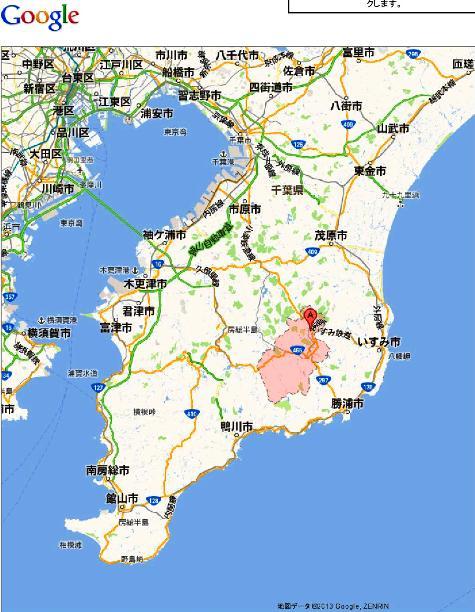 千葉県夷隅郡大多喜町 - Google マップ0001
