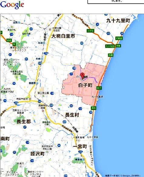 千葉県白子町 - Google マップ0001-2