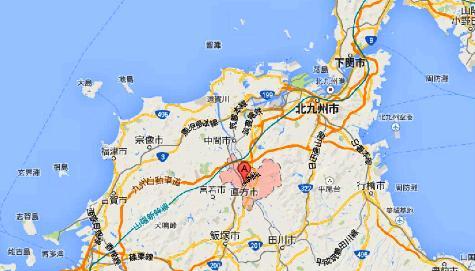 福岡県直方市 - Google マップ0001-2