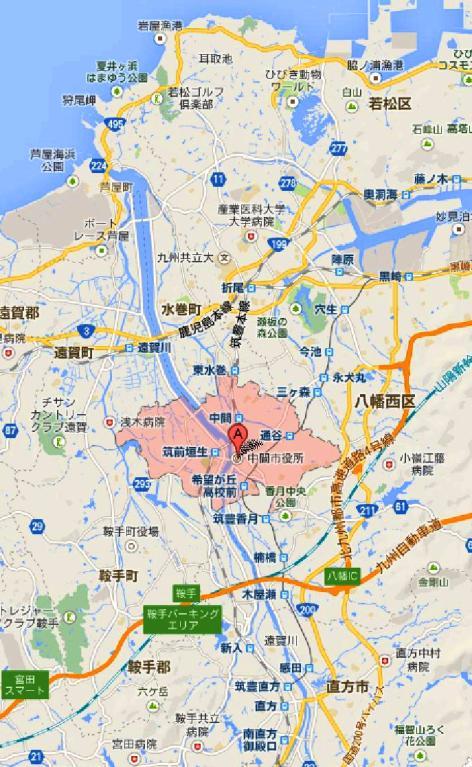 福岡県中間市 - Google マップ-20001-2