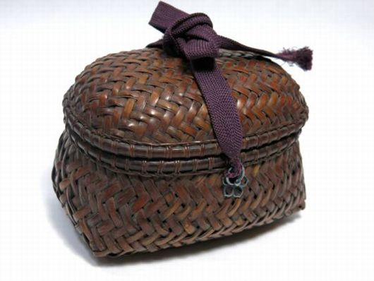 竹編籠 茶道具 野立てセット