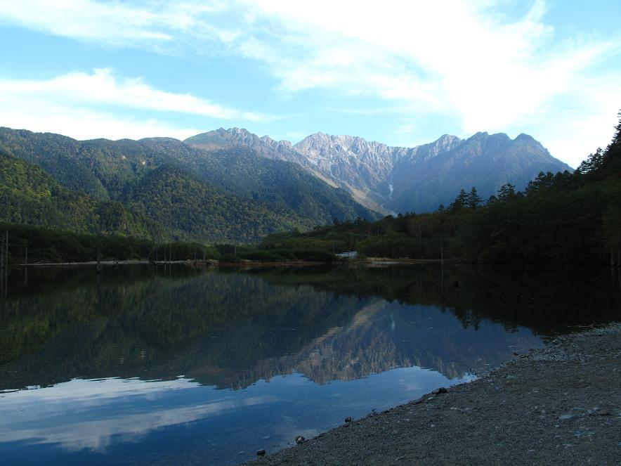 大正池から見える穂高連峰