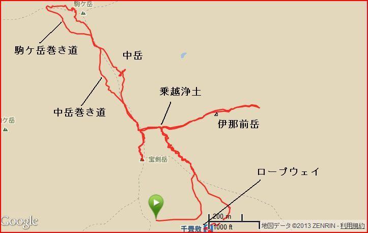 中岳~木曽駒ガ岳~宝剣岳~伊那前岳