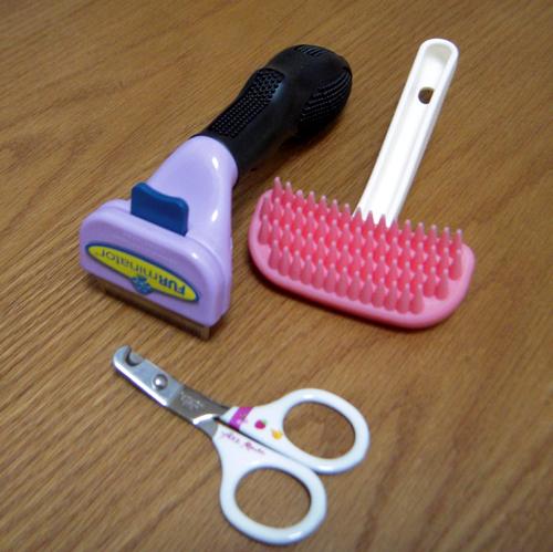 爪と毛のお手入れ用具