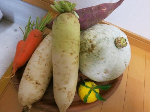 曽山の野菜はおいしいです