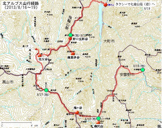 5 北アルプス地図