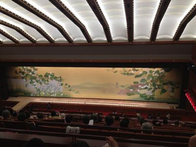 新歌舞伎座三階席