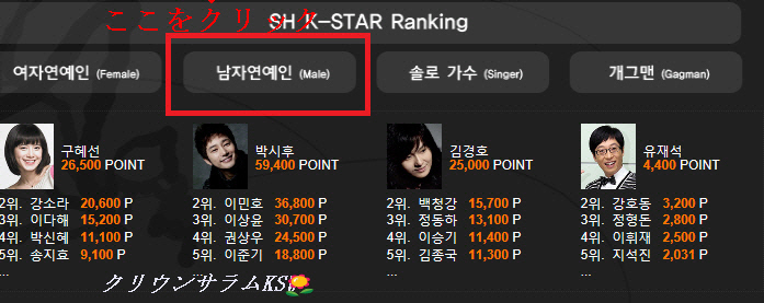 2SH K-STAR.TOP RANK ARTISTS★KOREAN STAR