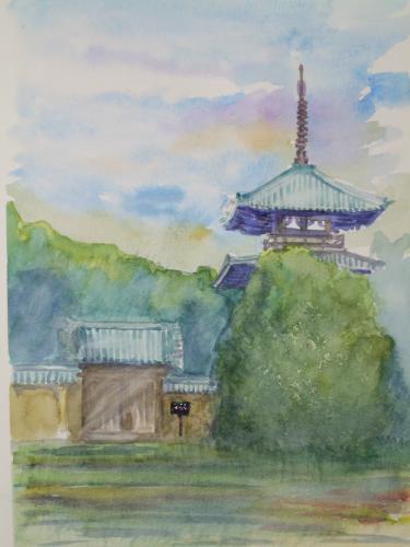 奈良 斑鳩 法起寺
