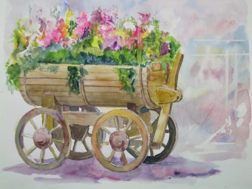 花の道 花くるま
