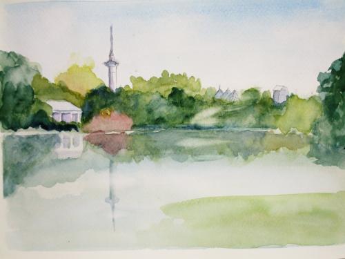 鶴見緑地 池