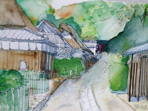 京都 嵯峨野 愛宕街道