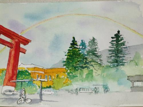 平安神宮 虹