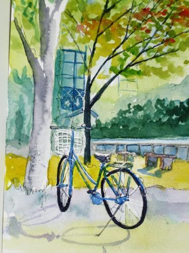 奈良女子大 自転車1台