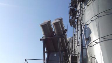 呉旅行049 艦対艦(ハープーン)ミサイル発射装置