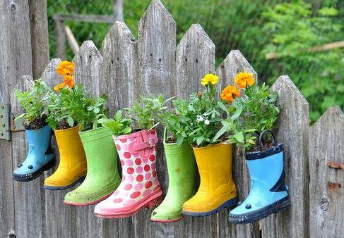 お庭の花のかわいい飾り方