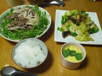 牛肉と豆苗のベトナム風サラダ