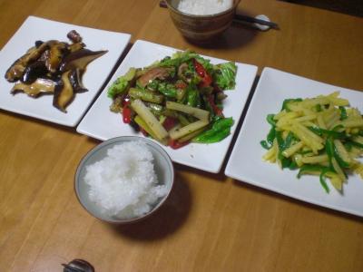 炒め物3種