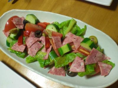 キュウリ・トマトのサラダ