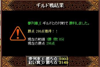 5月10日 翼Gv VS夢列車_E様 結果