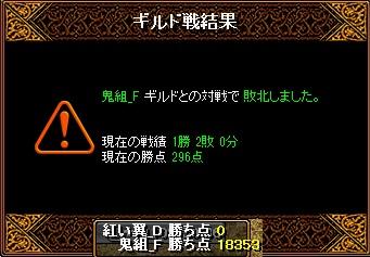 5月13日 翼Gv VS鬼組_F様 結果