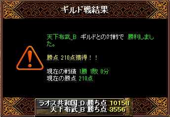 7月28日 ラオスGv VS天下布武_B様