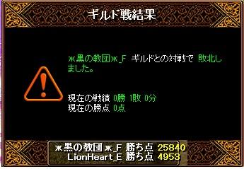 11月11日 ライオンGv VS黒の教団_F様