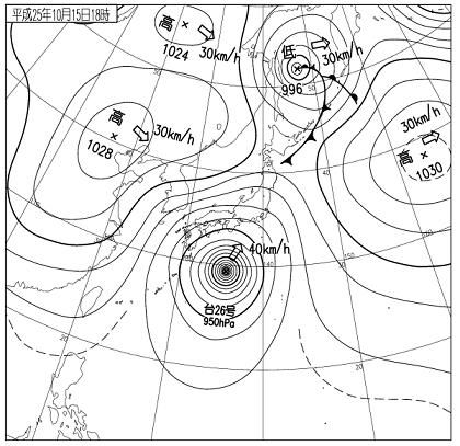 天気図 13101518c
