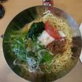 温泉卵とシャキシャキ野菜の冷やし担々麺