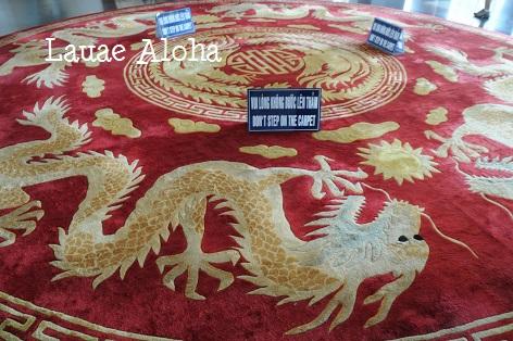龍と鳳凰のカーペット