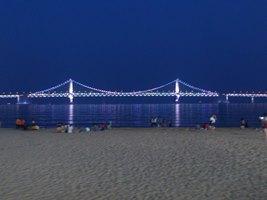 広安ビーチ 夜景