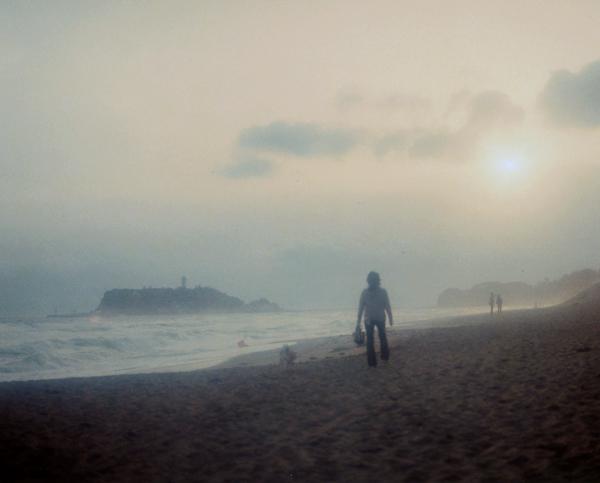 rere江ノ島 犬の散歩