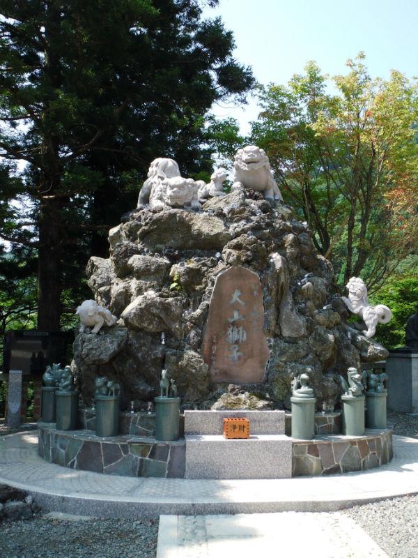 狛犬 オブジェ 大山 神社