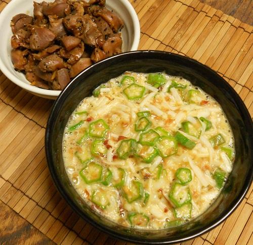 砂肝のコリコリ炒め&ヌルヌルご飯9