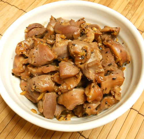 砂肝のコリコリ炒め&ヌルヌルご飯12