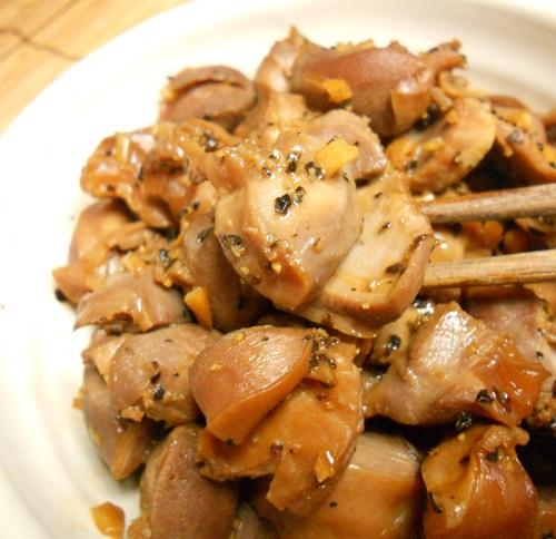 砂肝のコリコリ炒め&ヌルヌルご飯13